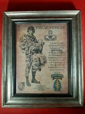Mc-Better: Army Cheap Thrills Special Forces Aged Parchment Framed Personalized
