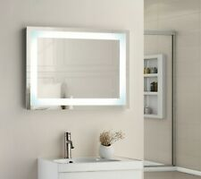 NIA 700 x 500mm Square LED Illuminated Touch Bathroom Mirror Demister IP44 3036