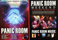 2 X PANIC ROOM 2016 FLYERS - START THE SOUND TOUR ESSENCE ETC - BILSTON WEEKEND