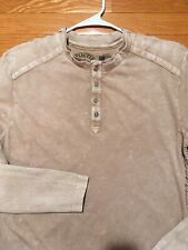 Affliction brand Men's L/S Henley T-Shirt, Sz Large, EUC - F14HS02