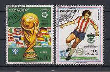 Paraguay Briefmarken 1980 Fussball WM Spanien Flugpost Mi 3334+35 gestempelt