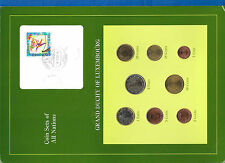 Coin Sets of All Nations Luxembourg EURO 2002 UNC 2,1 Euro 50,20,10,5,2,1 Cents