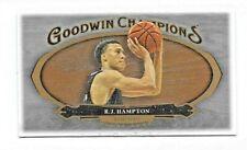 2020 UD Goodwin Champions R.J. HAMPTON Mini Lumberjack BLACK #'d 7/8 NBA No. 97
