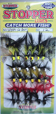 K & E Poppers, Card of 36, Size 12, Assorted Colors for Crappie #SP309-12-AST