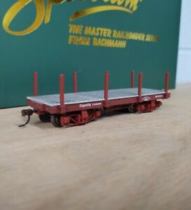 Bachmann On30 Scale 18 foot FLAT CAR - OXIDE RED. Data Only. NEW!!!