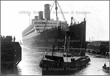 Photo: Rare View: RMS Aquitania Leaving Liverpool, 1914