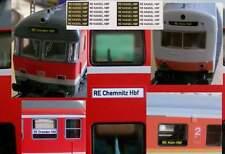 Zuglaufschilder selbstklebend f. RE, Dostos, S-Bahn AUSVERKAUF solange Vorrat r.