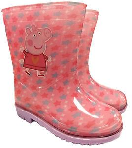 Childrens Peppa Pig Girls Wellington Boots Beach Wellies Kids Water Proof Shoes