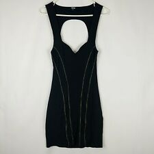 ASOS Size 10 Little Black Dress Zipper Design Cut Out Back