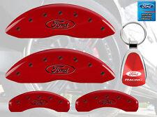 MGP Brake Caliper Covers Red Paint Custom Black Logo 2010-2011 Ford F-150