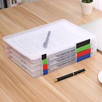 Document Paper Filling Case File A4 Transparent Storage Box Clear Plastic