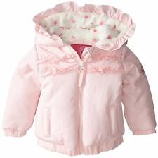 Weatherproof Girls Ruffle Puffer Jacket, Pink Prism, 18M