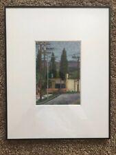 "Original California Artist AMANDA HARRISON 2011 ""East LA"" Pastel on Paper"