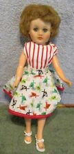 """1950's Horsman Cindy 10"""" Vinyl Fashion Doll~Jointed Knees~Original 2 Pc. Outfit"""