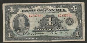 1935 CANADA (ENGLISH TEXT) 1 DOLLAR NOTE