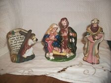 Religious Figurines - Nativity - Wise Man - John 3:16 Jesus carrying the Cross