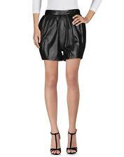 Leather Women Short Pant Party Black Wear Pants Casual Shorts Genuine Cocktail 2