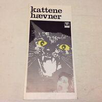"""Eye of the Cat"" Michael Sarrazin Hunnicutt 1969 Danish Original Movie Program"