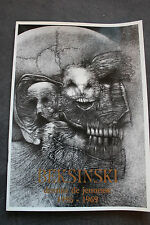 The exhibition catalog Beksinski - Dessins de Jeunesse 1956-1969 NEW