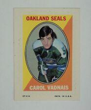 SUPER RARE 1970-71 Topps Hockey Sticker Seals Carol Vadnais  NRMINT/MINT