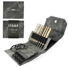 """LYKKE ::Driftwood Interchangeable Tunisian Crochet Hooks 6"""" Set:: in Grey Pouch"""