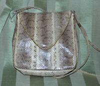 Cool Boa Snake Reptile Pattern Beige Shoulder Medium Purse Handbag