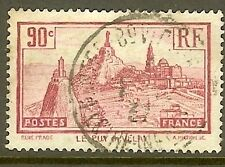 "FRANCE TIMBRE STAMP N°290 ""TAILLE DOUCE 90 C ROSE LILAS"" OBLITERE TB"
