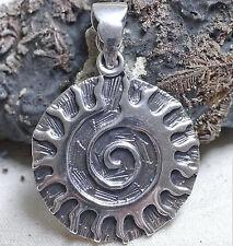 KRAFT Amulett SONNE Spirale 925Silber keltische Sonne Mittelalter Sonnenamulett