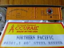Accurail HO #8301.1  Northern Pacific / 40' Steel Reefer / Kit Form / Rd #91075