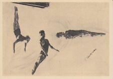 Olympia 1936  - Hilfsfond für den dt. Sport  Werbepostkarte 16 - Turmspringen
