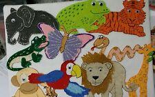 FELT BOARD/ STORY RHYME.  ZOO/ JUNGLE  ANIMALS CUSTOM LARGE.