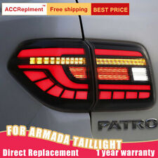 For Nissan Armada LED Taillights Assembly Smoke LED Rear Lamps 2017-2020