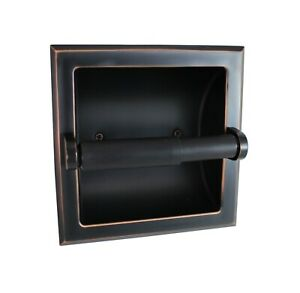 Heavy Duty Wall Mounted Recessed Toilet Paper Holder - Oil Rubbed Bronze