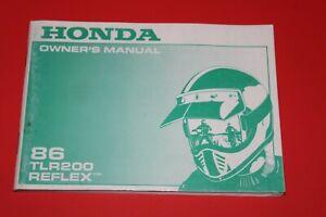 HONDA 86 TLR200 REFLEX Owner's Manual  NOS  Printed in Japan 31KJ2600