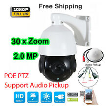 4.5'' 30X Zoom 1080P 2MP Outdoor POE PTZ IP Speed Dome Camera Night with Audio