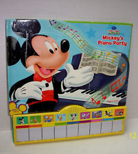 New listing Mickey Mouse & Friends Piano Party Play A Sound Hardcover Book Songs-Works Great
