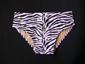 MENS Swim Brief Swimsuit in Regular or Low Rise in Black and White Zebra Print