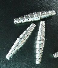 20pcs Tibetan Silver Apertured Tube Spacer Beads T480