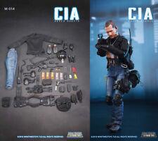 "CIA Male Special Agent Spy 1/6 Detective Clothes Arms Weapon Suit F 12"" Figure"