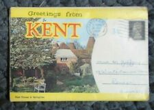 12 VIEWS of  KENT  VINTAGE PULL OUT  POSTCARD /ENVELOPE posted 1968   ,