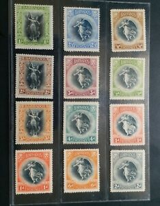 BARBADOS 1920 1/4d to 3s SG 201 - 212 Sc 140 - 151 Winged Victory set 12 MLH