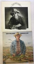 2 X DON WILLIAMS LP's - COUNTRY BOY & Especially For You RECORDS