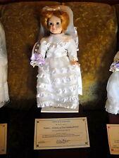 """SUSAN A BRIDE of the gatsby period danbury doll 13"""" lt brown blue eyes f4356 NIB"""