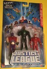 "Justice League Unlimited The Flash Green Lantern Atom Smasher 5"" figures DC JLU"