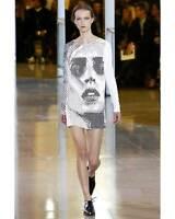 Anthony Vaccarello Womens Embellished Stretch-Crepe Mini Dress 6 (FR 38) White
