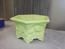 New listing Fenton Art Glass Lime Sherbet Satin Hexagon Planter Bowl Asian Oriental style