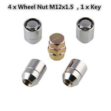 M12x1.5 Alloy Steel Anti Theft Security Lock Nut Wheel Lug Nut 1X Key+4X Locks