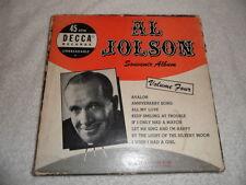 "Al Jolson souvenir album volume 4- 45rpm 7"" 4 record box set Decca records GC"