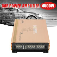 4500W Car Audio Power Stereo Amplifier Amp 4 Channel Bass Subwoofer DC 12V