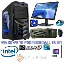 PC DESKTOP COMPLETO WINDOWS 10 PROFESSIONAL 64BIT ARES RAM8GB HD 1TB MONITOR 22""